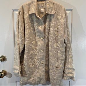 Susan Bristol linen embroidered jacket sz L